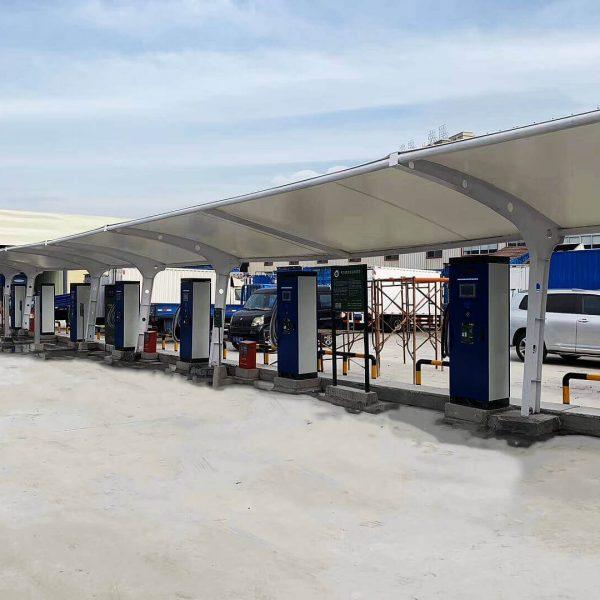 charging station parking awning