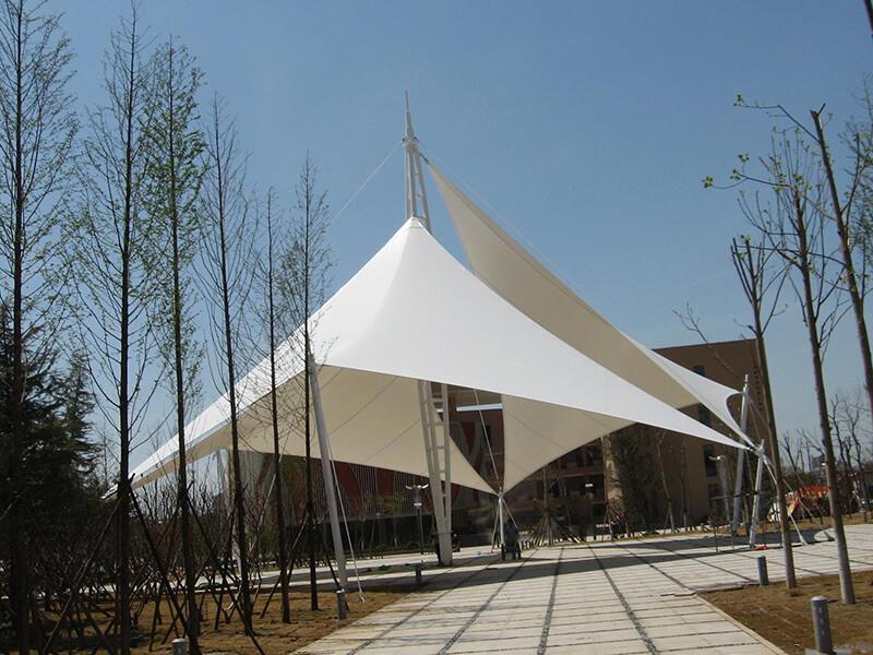 public place tensile structure