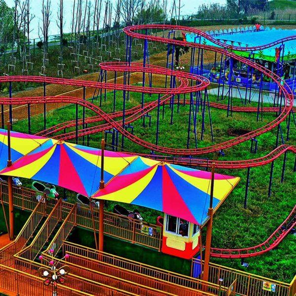 Amusement park landscape membrane structure