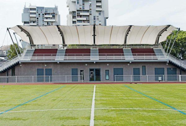 Film structure of the football stadium