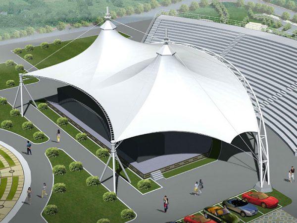 stadium tensile roof canopy