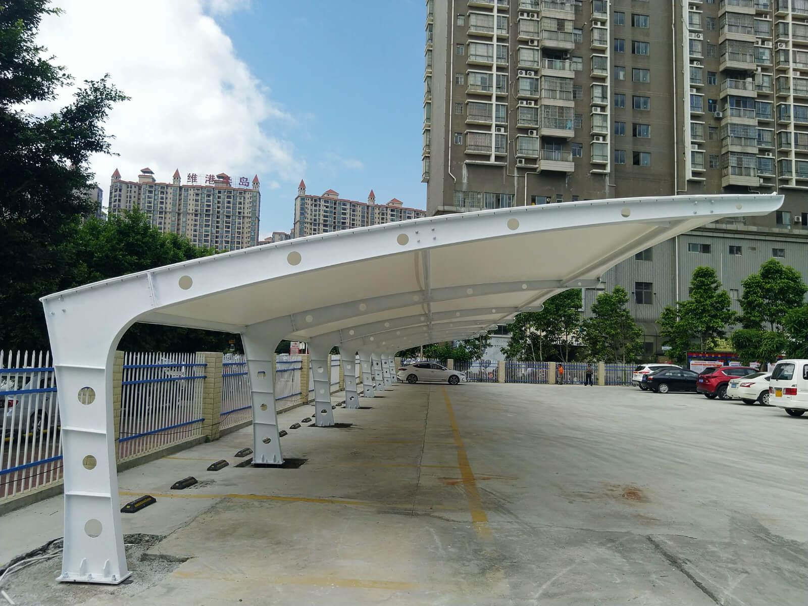 textile car parking shade