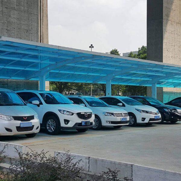 PP sheet parking garage
